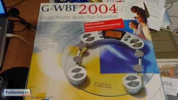 G-wbf 2004 glass water body fat monitor våg